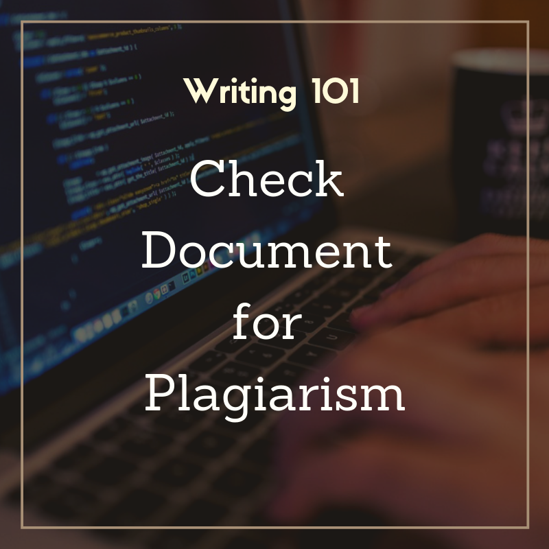 Check document for plagiarism