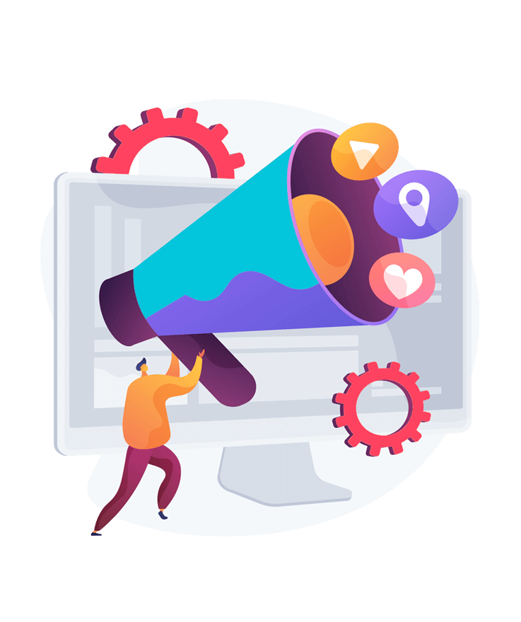 An illustrative representation of a marketing agency Toronto that serves as a one-stop-shop for various digital solutions and tools.
